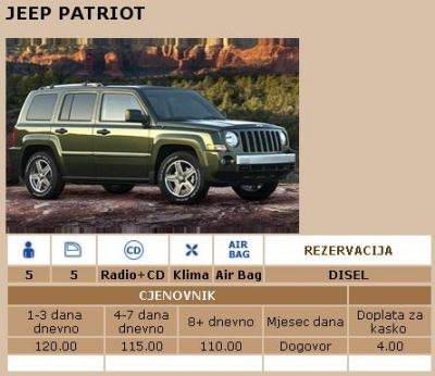 jeep adut rent-a-car u podgorici, Podgorica