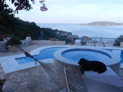 15 house with panoramic view - przno, Sveti Stefan