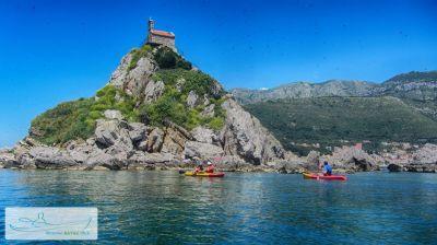 4 kayak tours, Petrovac
