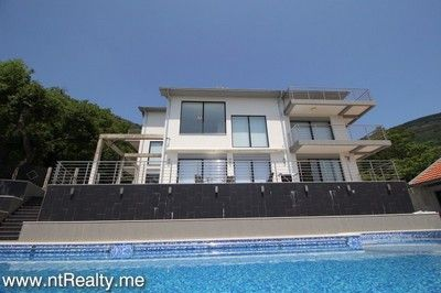 tivat villa 148 220 tivat, bogdasici contemporary villa with pool for sale €1.200,000