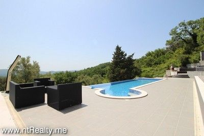 tivat villa 148 227 tivat, bogdasici contemporary villa with pool for sale €1.200,000
