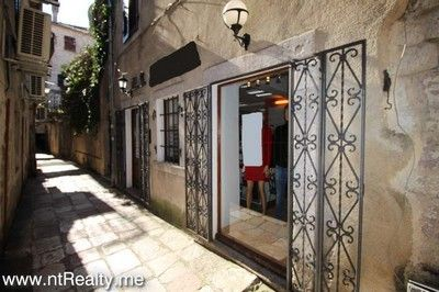 picture outside sold kotor old town, renovated retail space €220,000 sold