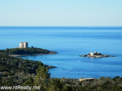 p1130884 lustica-zanjic, investment plot  with sea views for sale €179,000