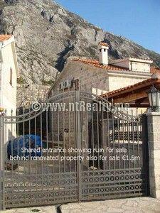sveti stasije house 051 stone ruin in prime location dobrota, kotor for sale €275,000