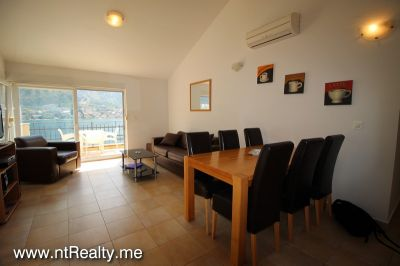 kotor view apartment (30) sold kotor view  fully furnished 2 bedroom, 2 balconies, parking and pool €149,500 sold, Prcanj