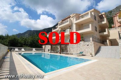 kotor view apartment sold (16) sold kotor view  fully furnished 2 bedroom, 2 balconies, parking and pool €149,500 sold, Prcanj
