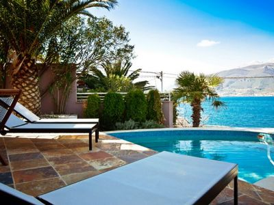 1 lustica - krasici, sea side luxury villa with private pool