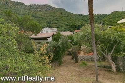 lepetani land and house (11) tivat bay, lepetani- house and plot on the first line for sale €454,000