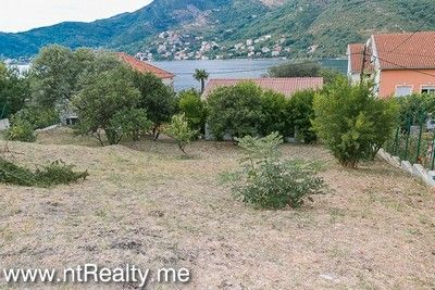 lepetani land and house (2) tivat bay, lepetani- house and plot on the first line for sale €454,000
