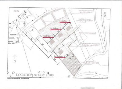 drawing 2 lustica peninsula - urbanised plot in rose with planning proposal for sale €800,000