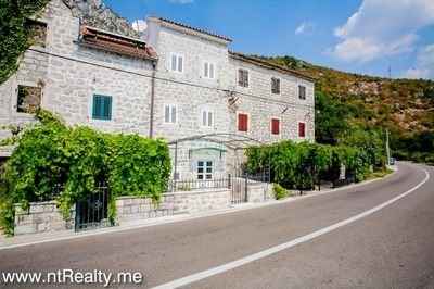 strp stone house villa 352 (36) kotor bay - strp, waterfront stone villa on the first line for sale €315,000