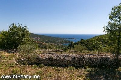 lustica tici plot (9) lustica bay - tici, plot with views over fort arza and adriatic sea for sale €85,000