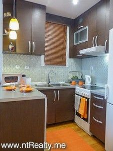 kitchen tivat - donja lastva, modern 2 bedroom  with sea views for sale €120,000