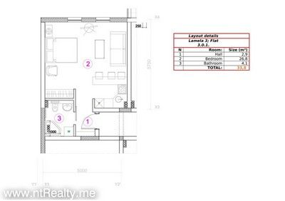 301 doc 1 kotor bay - skaljari, studio in brand new complex for sale €105,600
