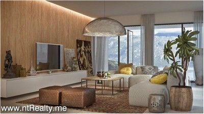 living room 2 kotor bay - skaljari, 1 bedroom  in brand new complex for sale €254,200