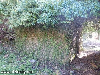 pb280496 tivat - kavac, stone ruin and land for sale €127,000