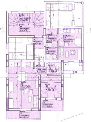 nacrt stanovi za prodaju-kilibarda, Kumbor