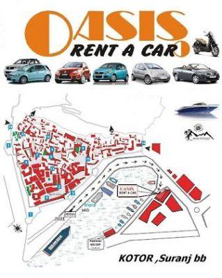 2 oasis rent a car, Kotor